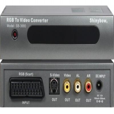 CONVERTER SB-3680 SCART-RGB To S-VIDEO VIDEO AUDIO