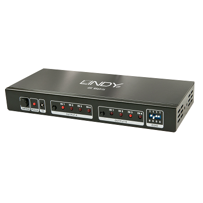 LINDY 38049 - 4x2 HDMI 2.0 10.2G Matrix Switch