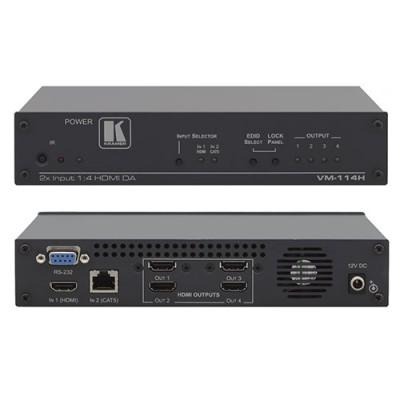 Bộ chia 2x1-4 và khuếch đại HDMI-Twisted Pair Switcher và HDMI Kramer VM-114H